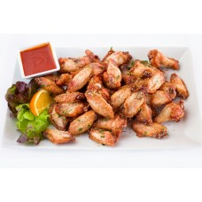 CHICKEN WINGS WITH BBQ SAUSE, 1 KG!