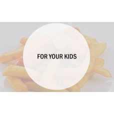 Kids Cheese Burger and Chips
